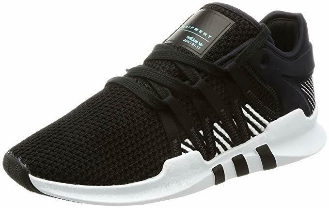 ADIDAS WOMENS EQT RACING ADV ATHLETIC RUNNING SHOES BLACK WHITE [BY9795]
