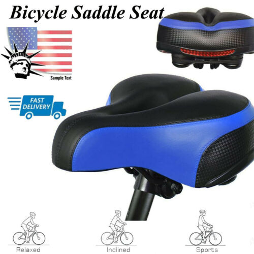 Bicycle Cycling Big Bum Gel Saddle Seat Road MTB Bike Wide Soft Pad W//Taillight