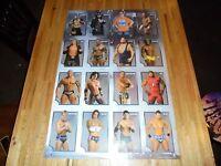 Wwe Superstars Poster 24 X 36 Wwf Out Of Print 2010 John Cena Triple H Cm Punk