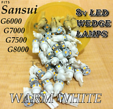 Green 8v LED Wedge Lamp Bulb Sansui G6000 G-7000 G-7500 G-8000 G9000