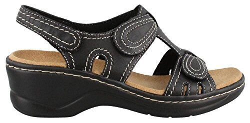be95515895b5 Clarks Lexi Walnut Q Open Toe Leather Wedge Sandal 9 for sale online ...