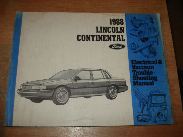 1988 Lincoln Continental Wiring Vacuum Diagrams Shop