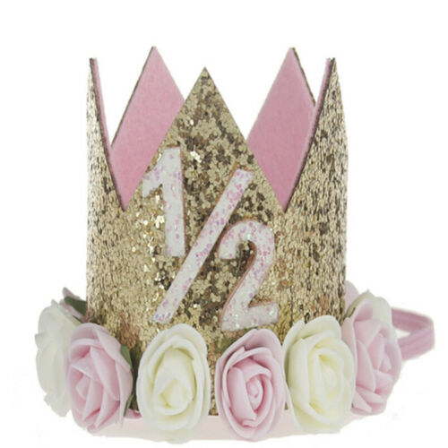 Princess Baby Girl 1st Birthday Flower Crown Party One/&Two Year Hairband Tia  ZY