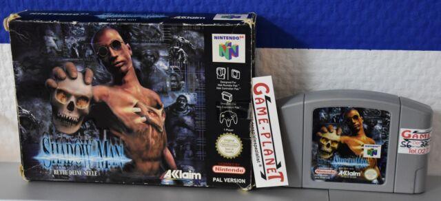 Shadow Man OVP (Nintendo 64, 1999) N64 Action mit Hülle Box Rette deine Seele