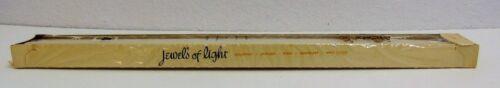 "Vintage Candle Jewels of Light 18/"" Tapers Pair White Kliklok"