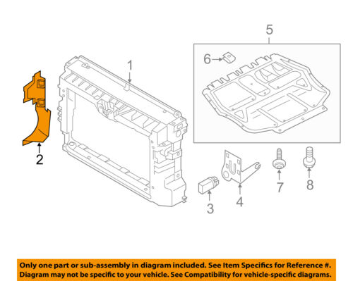 VW VOLKSWAGEN OEM Radiator Support-Air Baffle Duct Deflector Right 561121284