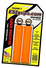 ESI Chunky ORANGE Mountain Bike Grips 100% Silicone Shock Absorbing 130X32mm 60g