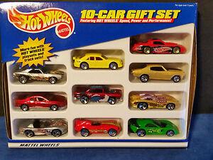 Hot-Wheels-1999-10-Car-Gift-Set-Pack-Vehicles-22945