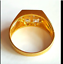 thumbnail 4 - Men's Gold Plated Cocktail Ring Sizes 8 10 14.5  Square Cubic Zirconia Fashion