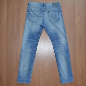 DIESEL-BUSTER-Regular-Slim-Tapered-Stretch-Jeans-Da-Uomo-Blu-SZ-W33-L32