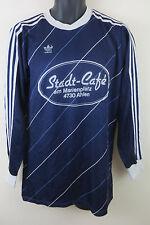 Mens Adidas Blue Trefoil Vintage Football Shirt DOLBERG 80s Trikot Jersey Large