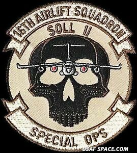USAF 16th AIRLIFT SQUADRON -SOL II- SPECIAL OPS -ORIGINAL ...