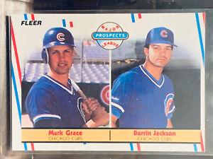 1988 Fleer Mark Grace/Jackson Rookie Card #641