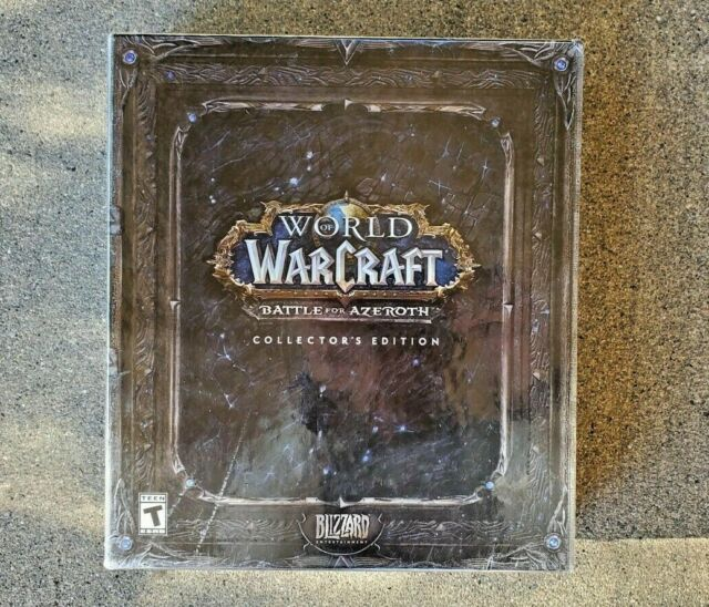 New/Sealed- WoW, World of Warcraft Battle For Azeroth Collectors Edition (READ)