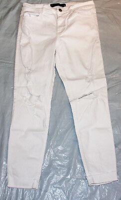 0e6fff267232 Jeans Hose, Hollister, Crop, high rise, weiß, Größe 28, mit Löchern ...