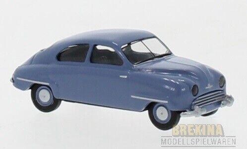 blau 1950 Brekina 28601-1//87 Saab 92 Neu