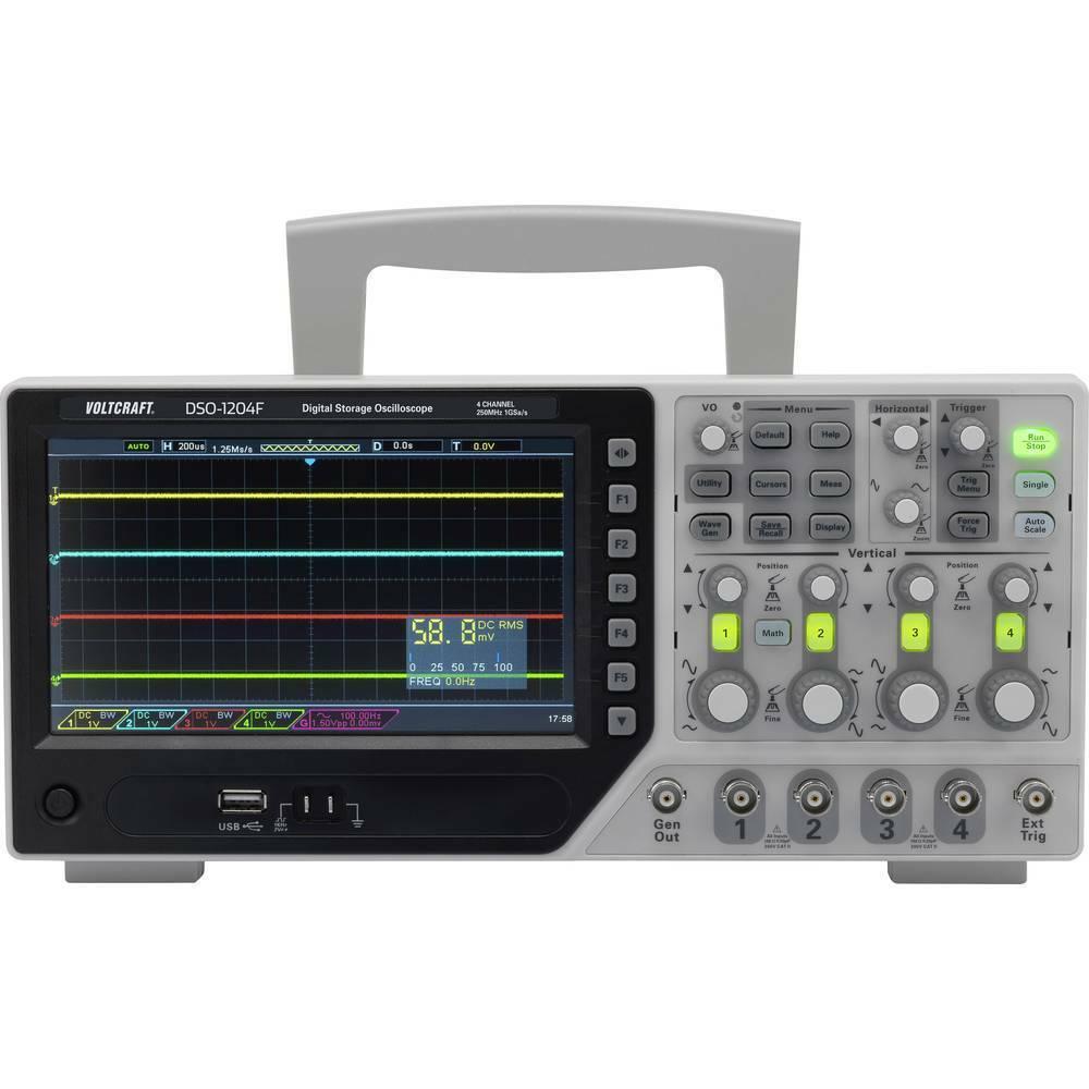 VOLTCRAFT DSO-1084F Digital-Oszilloskop 80 MHz 4-Kanal 1 GSa s 64 kpts 8 Bit