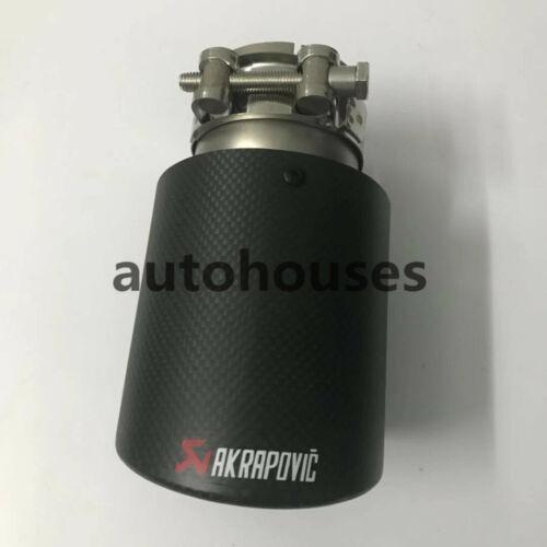 "1Pcs ID:3.0/""76mm OD:3.0/""76mm AKRAPOVIC Exhaust Tip Muffler Pipe Carbon Fiber"