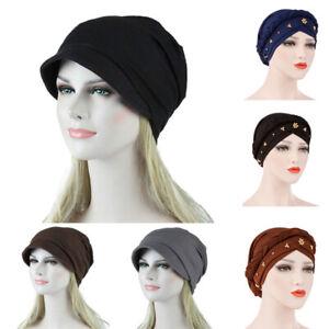 Turban-Hat-Headwear-Cover-Cap-Chemo-Cancer-Stretch-Beanie-Hair-Loss-Wrap-Scarf
