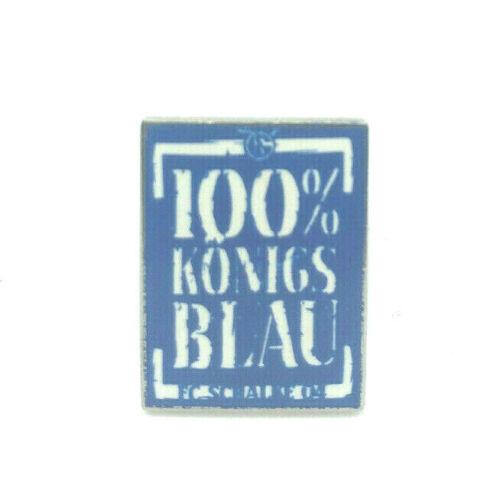 FC Schalke 04 Pin 100/% Königsblau Logo Anstecker Fussball Bundesliga #547