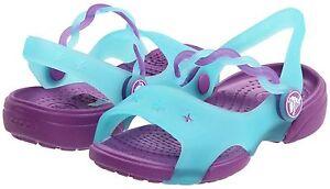 b0bdd5c79d49 Image is loading Crocs-Emelina-Girls-Summer-Sandals-Toddlers-Size-6-