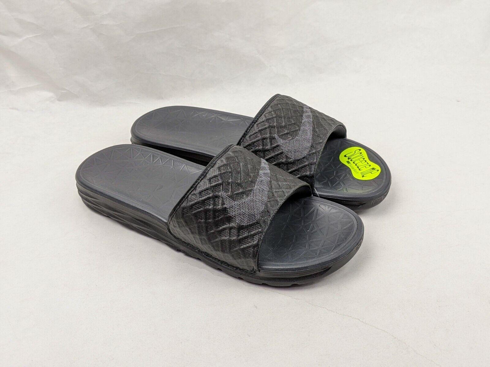 Size 7 Men's / Women's 8.5 Nike Benassi Solarsoft Slide Sandals 705474-091  Black