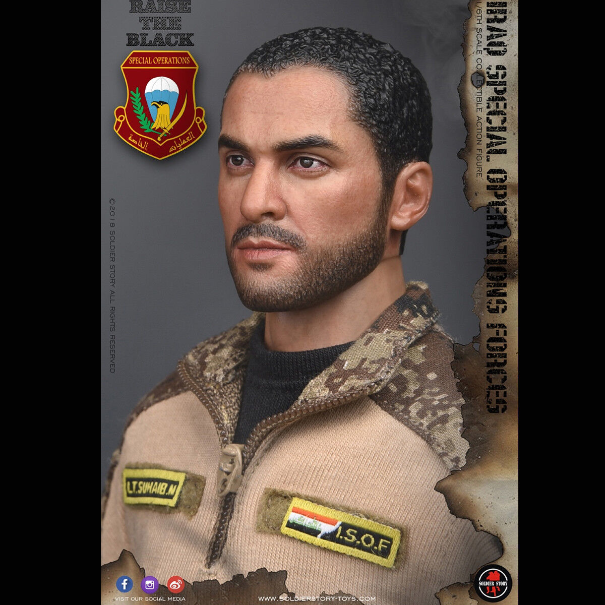 1 6 SoldierStory SS107 Iraq Special Operations Forces ISOF Collection Figure Toy