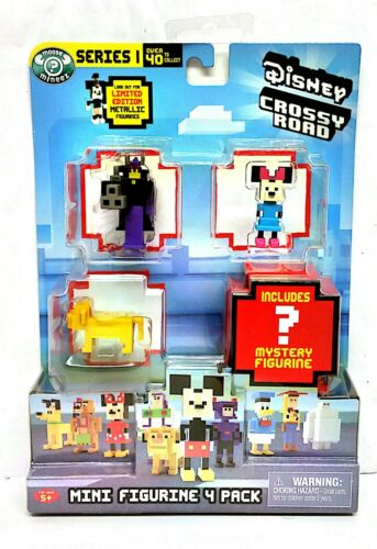 DISNEY Crossy ROAD Mini Figurina 4 Pack-Serie 1