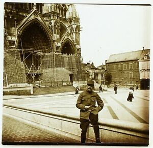 FRANCE-Amiens-Cathedrale-Notre-Dame-Photo-Stereo-Plaque-Verre-VR2L5n10