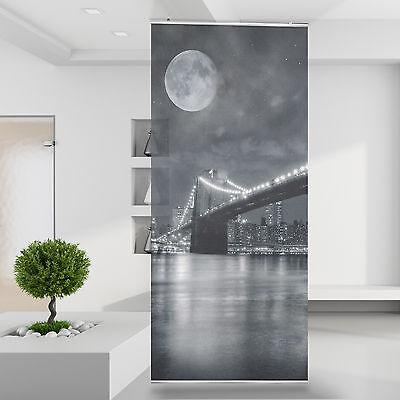 2019 Neuestes Design Raumteiler | Vorhang Gardine Brooklyn Bridge Skyline New York Manhattan Usa 80 Und Verdauung Hilft