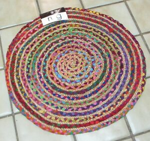 24 Quot Round Chindi Rug Dhurrie Jute Kitchen Floor Mat Door