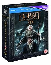 The Hobbit Battle of the Five Armies [3D Extended] (Blu-ray, 5 Discs) *NEW*