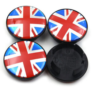 4x-54mm-Union-Jack-Nabendeckel-Felgendeckel-Nabenkappen-fuer-MINI-3131171069