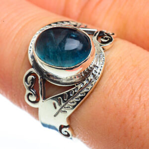 Chryscolla-In-Quartz-925-Sterling-Silver-Ring-Size-8-25-Ana-Co-Jewelry-R45769F