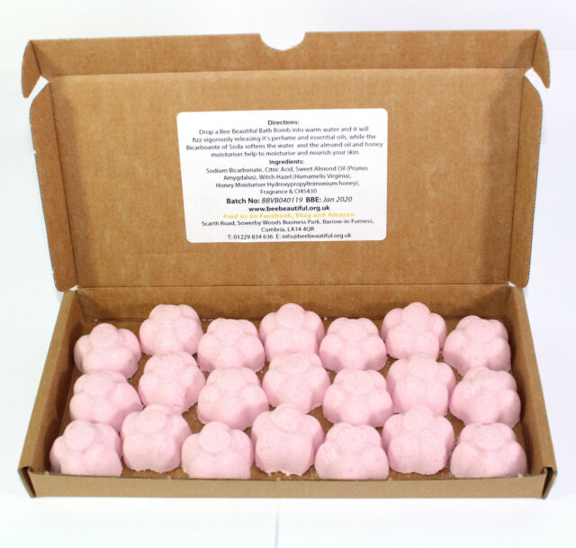 Very Berry Bath Bombs Strawberry 21 x 10g Flowers Bee Beautiful reduced plastic