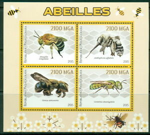 Madagascar-Bees-MNH-4val-sht-s-s