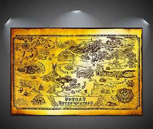 Details About The Legend Of Zelda Collector S Edition Hyrule Map Poster A3 297 X 420 Mm