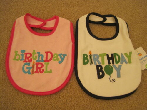 New NWT Carter Pink Birthday Girl Bib Twin