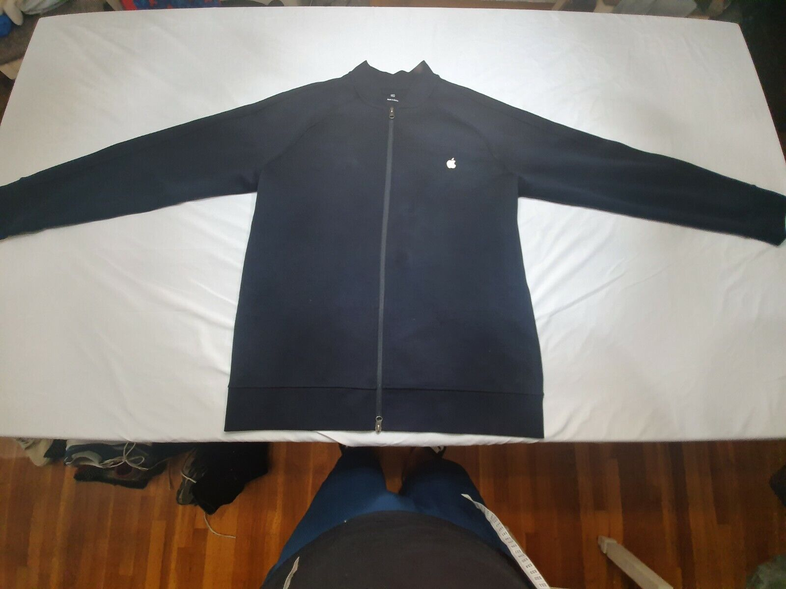 Apple Store Employee Mens Full Zip Sweatshirt/Jacket Embroidered Extra Large XL