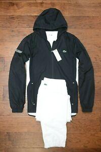 top fashion latest design promo codes Détails sur Lacoste Sport Homme Athlétique Noir/Blanc Polyester Survêtement  Capuche XL Ue 6