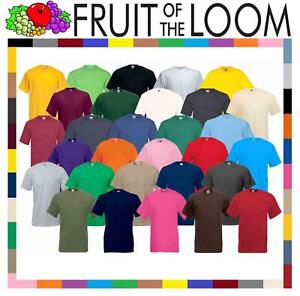 Fruit-of-the-Loom-Cotton-Plain-Blank-Men-039-s-Women-039-s-Tee-Shirt-Tshirt-T-Shirt-NEW