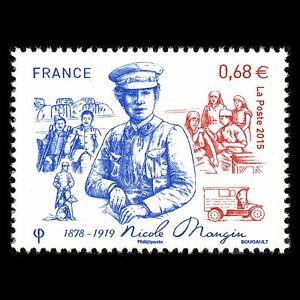 France-2015-Nicole-Mangin-1878-1919-Famous-People-Sc-4781-MNH
