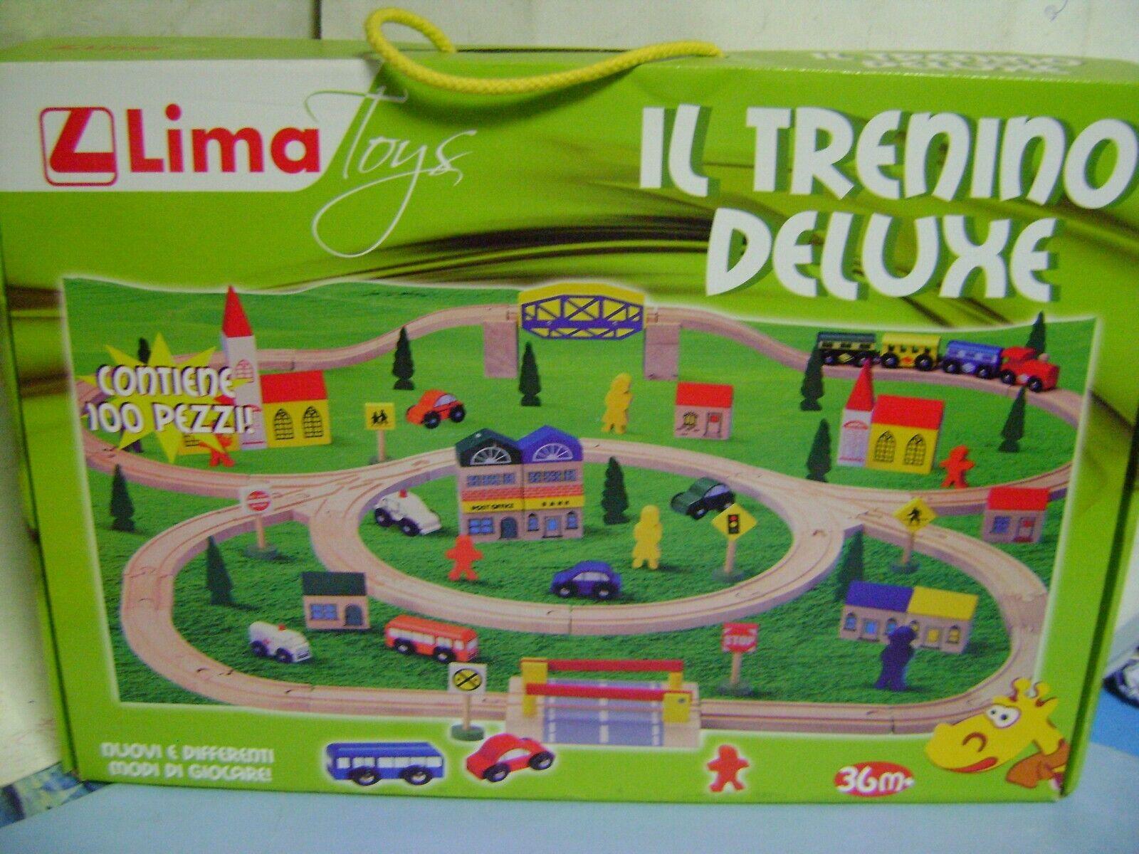 IL TRENINO DE LUXE IN LEGNO LIMA TOYS 100 PEZZI
