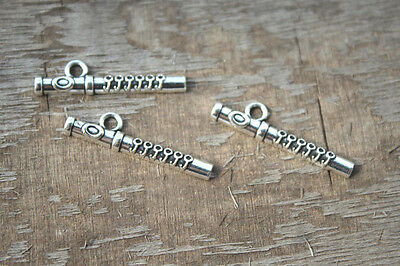 30pcs--Flute charms Antique Tibetan silver Flute charms pendants 29mm x 7mm