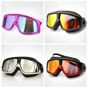 d1c1b3f0672 Image is loading Comfortable-Silicone-Large-Frame-Swim-Glasses-Swimming- Goggles-