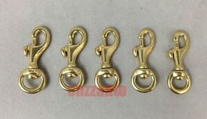 5pcs Small Solid brass leathercraft swivel eye trigger barrel snap hook keychain