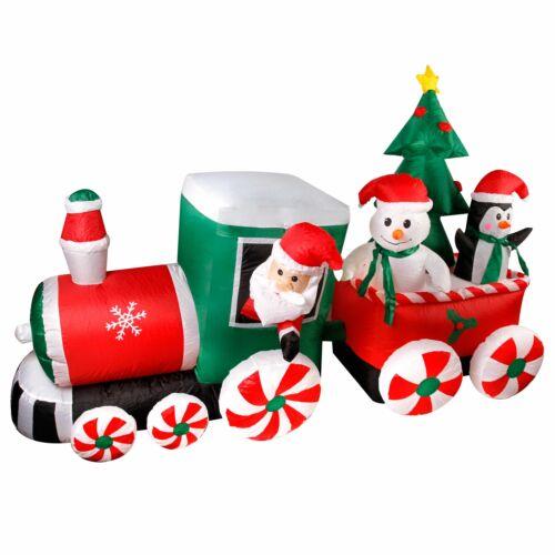 DEL Père Noël Bonhomme de neige gonflable illumine Décoration Extérieur Grand
