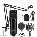 Kit de micrófono de condensador BM800 Soporte de brazo de grabación de audio de estudio Soporte de choque KTV