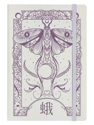 Notebook Cryptic Moth A5 Hard Cover Cream 14 x 21cm