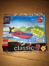 1999 Classic Lego Bag Set #8 Ronald McDonald Happy Meal Boat Plane 12 Pcs Sealed